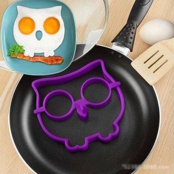 cuisine Lytwtw's Lovely BBQ Outdoor Owl Egg holder Pan Cake Pot Fry Cook Kitchen Frying gadget Cooking Tools