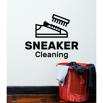Vinyl Wall Decal Sneaker Cleaning Service Shoes Decor Stickers Mural (g3025)