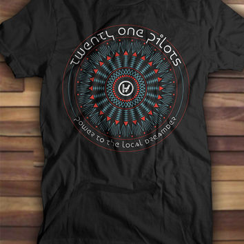 Twenty One Pilots Power to the local dreamer T shirt, Printed Tshirts, Printed tees