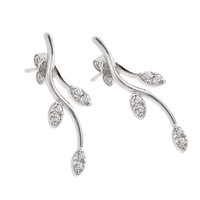 Sterling Silver Curvy Tree Branch Stud Earrings