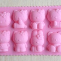 Hello kitty shape Muffin Sweet Candy Jelly fondant Cake chocolate Mold Silicone tool Ice mould Baking Pan DIY