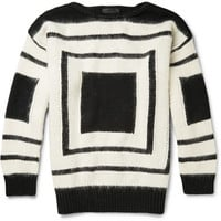 Alexander McQueen - Geometric Patterned Wool Sweater | MR PORTER