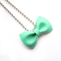 MINT BOW NECKLACE