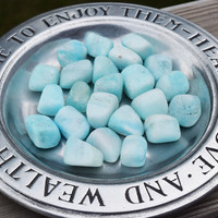 BLUE ARAGONITE Anxiety Relief Stone - Talisman to Hold During Stressful Times