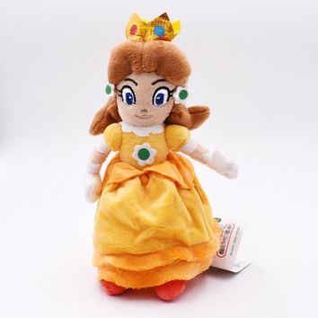 Super Mario party nes switch 15cm  Bros Yellow Princess Peach Daisy Plush Toy Peluche Soft Stuffed Doll Gift For Children's Christmas AT_80_8