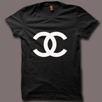 Hot Chanel Paris Celine Logo Men Black and White T Shirt Tee CH024