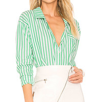 by the way. Kelly Striped Button Up in Green Stripe | REVOLVE