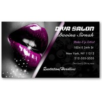 Salon/ Makeup Artist Business Card from Zazzle.com