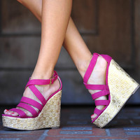 Love Raspberry Sorbet Wedges: Gold | Hope's