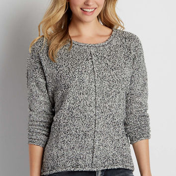 marled pullover sweater with metallic shimmer | maurices