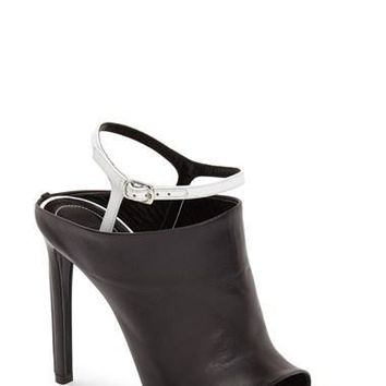 "Women's Balenciaga 'Glove' Bicolor Leather Open Toe Sandal, 4 3/4"" heel"