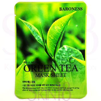 Baroness Green Tea Mask Sheet  *exp.date 09/18