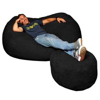 Large Micro Suede Bean Bag Lounger