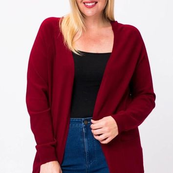 Apple Picking Cardigan + Burgundy