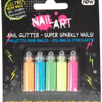Nail Art Neon Glitter - Nails - Make Up - Topshop