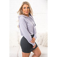 For The Better Cropped Sweatshirt (Lavender Fog)