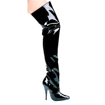 "Ellie Shoes E-Susie 5"" Heel Thigh High Boots"