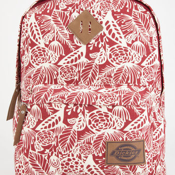 Dickies Floral Canvas Backpack Red Combo One Size For Women 26661406701