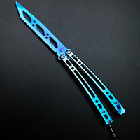 Mirrored folding butterfly knife Tool