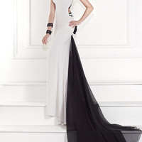 Elegant High Neck Formal Gown by Tarik Ediz