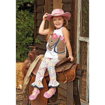 Sale Mud Pie Horse Tunic And Legging Set