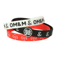 Of Mice & Men Rubber Bracelet 3 Pack