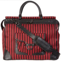 Sydney Love Stripe Collection Weekender,Red/Black,One Size