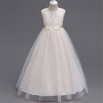 3 - 14 Y Children's Costumes for Girls Summer Long Dress for party and Wedding Teenagers Child Kids Girl Birthday Dress Clothing