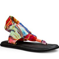 Sanuk Yoga Sling 2 Prints Coral Multi Marble Sandals