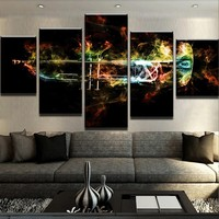 Trumpet Flames Canvas Set