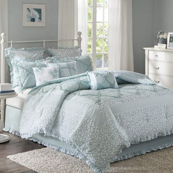 Stephanie Country Cotton Floral 9PC Comforter Set