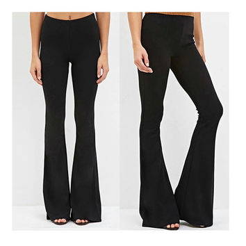 Shop Bell Bottom Stretch Pants on Wanelo