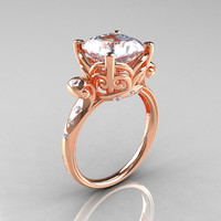 Modern Antique 14K Rose Gold 26 Carat Emerald Cut by artmasters