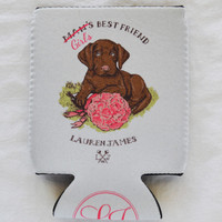 Girl's Best Friend Can Holder in White by Lauren James