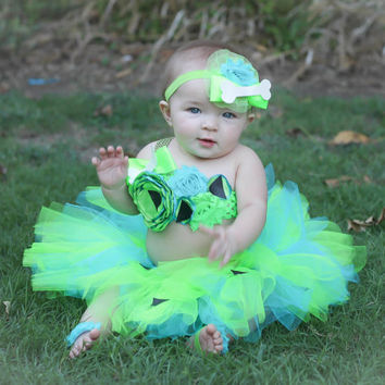 Adorable Pebbles Tutu Baby Costume Tutu Set 3 Piece for Baby Girl Newborn-18 Months First Birthday First Halloween