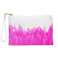 Allyson Johnson Pink Brushed Pouch