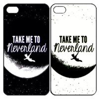 take me to neverland Samsung Galaxy S3 S4 S5 Note 3 4 , iPhone 4 4S 5 5s 5c 6 Plus , iPod Touch 4 5 , HTC One M7 M8 ,LG G2 G3 Couple Case