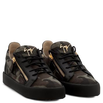 Giuseppe Zanotti Gz Frankie Camouflage Fabric Low-top Sneaker - Best Deal Online