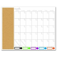 "Board Dudes 16"" x 20"" Color Coded Magnetic Dry Erase Calendar and Bulletin Board (DDY05)"