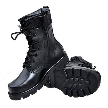 Best Black Leather Work Boots For Men Products on Wanelo