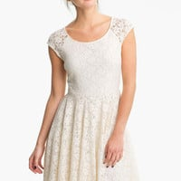 Soprano Lace Skater Dress (Juniors) | Nordstrom