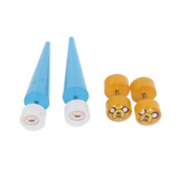 Adventure Time Jake And Finn Faux Taper And Plug 4 Pack