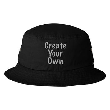 Create Your Own Embroidered Bucket Hat