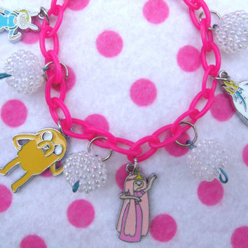 Kawaii Adventure Time Charm Bracelet by hobbittownjewelry on Etsy