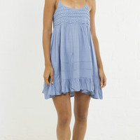Ruffle Bottom Baby Doll Cami Dress - Denim