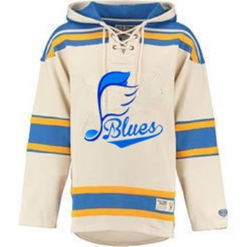 ca qiyif BLUES Logo Hockeys Style Pullover
