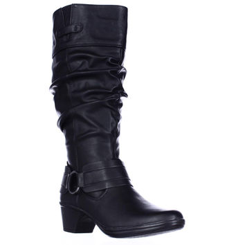 Easy Street Jayda Wide Calf Slouch Boots, Black, 6 US