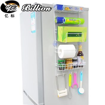 High Quality Metal Kitchen Refrigerator Storage Holder Rack Fridge Multi-layer Shelf Holder Organiser Space saver
