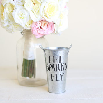 Wedding Sparklers Holder Tin Pail NEW 2014 Design by Morgann Hill Designs