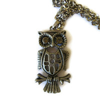 Owl Necklace by LoveYewDesigns on Etsy